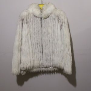 Early 80's The Vintage Girl Silver Fox Coat S
